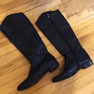 Tahari Black Leather Boots